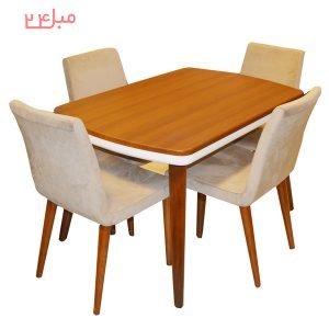 میز و صندلی نهارخوری 4 نفره مدل : Mnbam-10-4