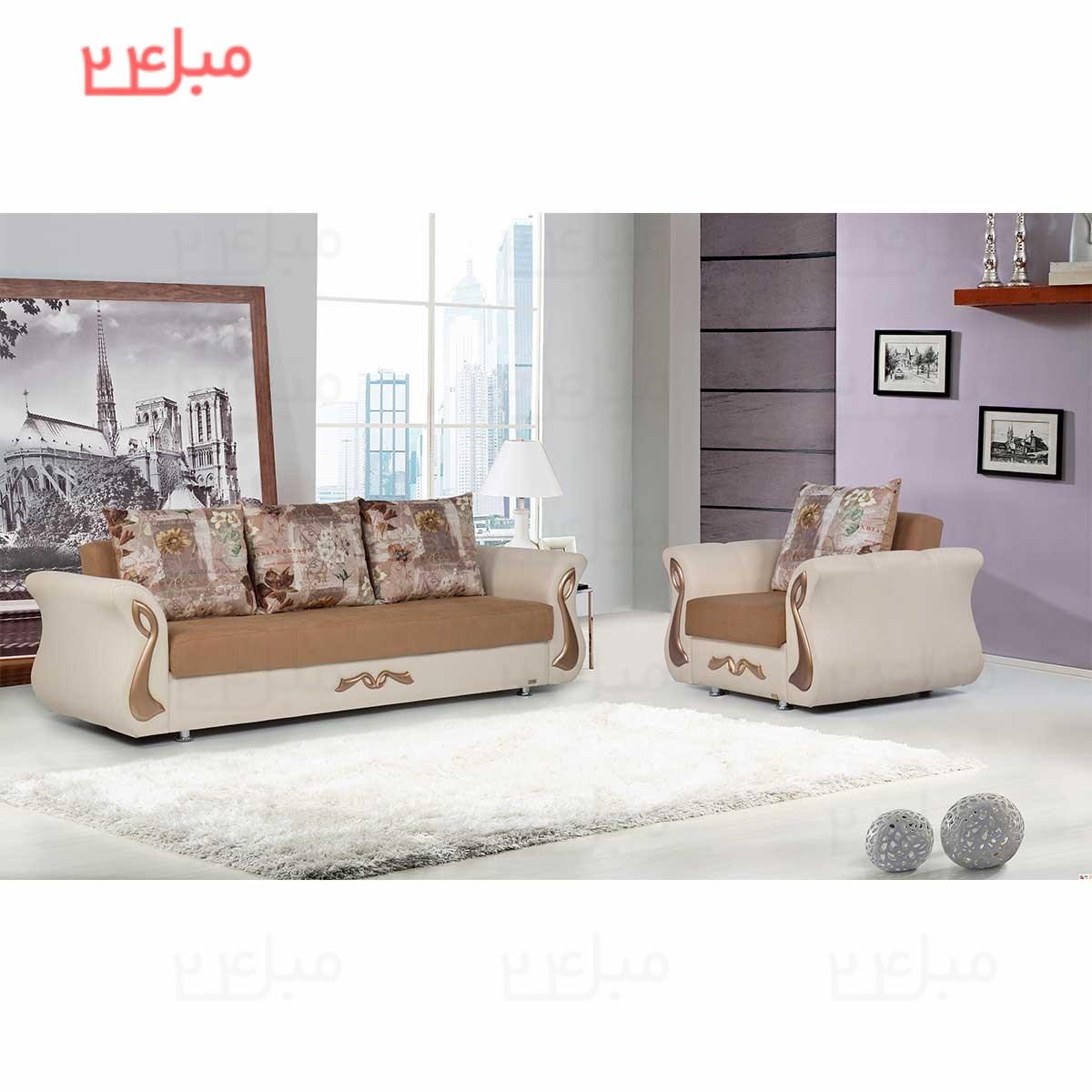 ست مبل راحتی تختخواب شو ( تخت شو ) 7 نفره مدل :P83N |