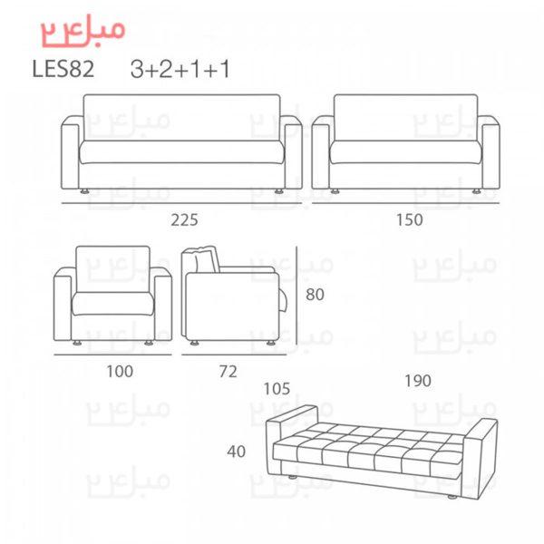 ست مبل راحتی تختخواب شو ( تخت شو ) 7 نفره مدل : S82