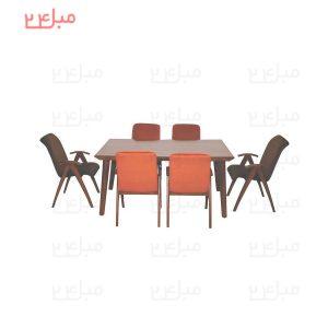 میز و صندلی نهارخوری 6 نفره مدل : کارولین