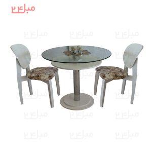 میز و صندلی نهارخوری 2 نفره مدل : ارکیده و توپاز مدل صندلی: صندلی توپاز عرض صندلی:40 سانتی متر عمق صندلی: 40 سانتی متر ارتفاع کف صندلی از زمین: 50 سانتی متر ارتفاع پشتی صندلی: 45 سانتی متر مدل:میز نهارخوری ارکیده