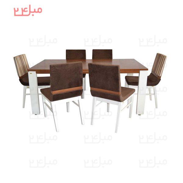 میز و صندلی نهارخوری 6 نفره مدل : آرنیکا و فلورین